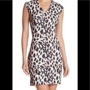 Sharagano size 16W sheath dress bold print NWT